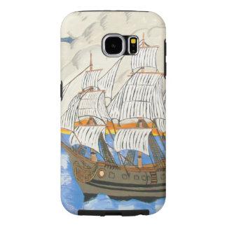 Barco pirata en los casos de Samsung del mar Funda Samsung Galaxy S6