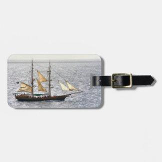 Barco pirata etiquetas maletas