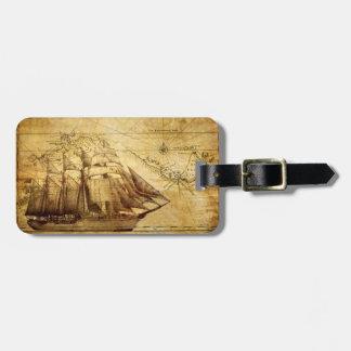 barco pirata etiquetas de maletas