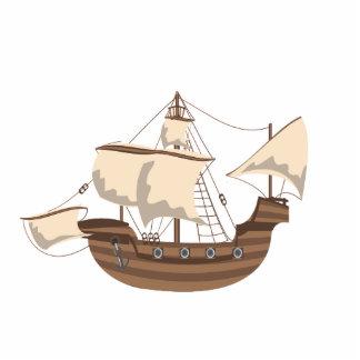 Barco pirata fotoescultura vertical