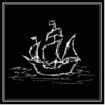 Barco pirata. Galleon. blanco y negro Esculturas Fotograficas