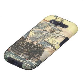 Barco pirata Galleon del vintage que navega el océ Galaxy S3 Funda