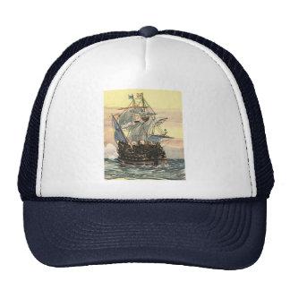 Barco pirata Galleon del vintage que navega el océ Gorros Bordados