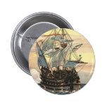 Barco pirata Galleon del vintage que navega el océ Pin
