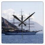 Barco pirata grande reloj de pared