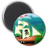 Barco pirata iman de nevera
