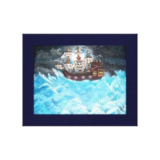Barco pirata impresión en lienzo