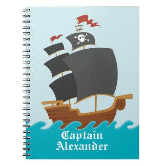 Barco pirata libretas espirales