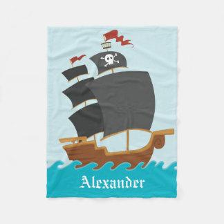 Barco pirata manta de forro polar