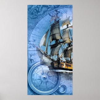 Barco pirata impresiones