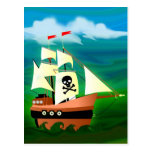 Barco pirata postales