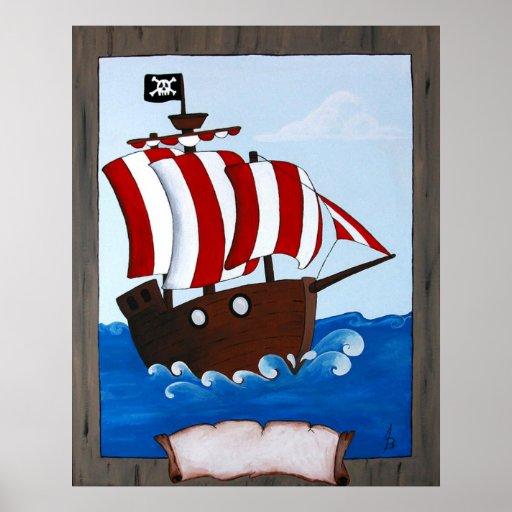 Barco pirata posters