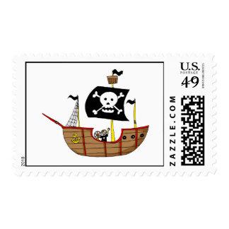 Barco pirata franqueo