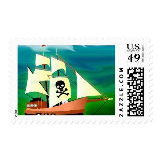 Barco pirata sellos