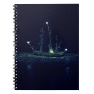 Barco pirata spiral notebook