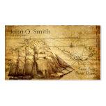 barco pirata tarjetas de visita