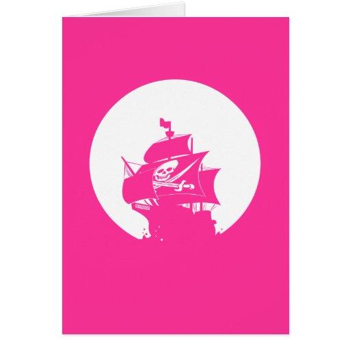 Barco pirata tarjetón