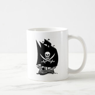 Barco pirata taza de café
