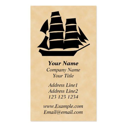 Barco pirata. Velero Tarjeta De Visita