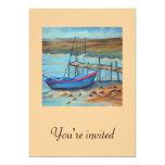 Barco por el embarcadero viejo invitación 12,7 x 17,8 cm