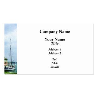Barco por la cabaña de la ostra tarjetas de visita