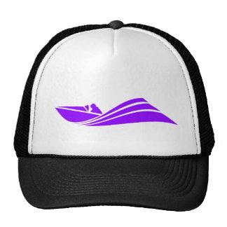 Barco púrpura violeta de la velocidad gorras