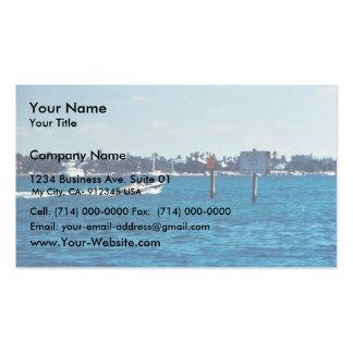Barco que apresura con zona de la marcha lenta del plantillas de tarjetas personales