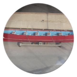 Barco que compite con de madera con diez asientos plato para fiesta