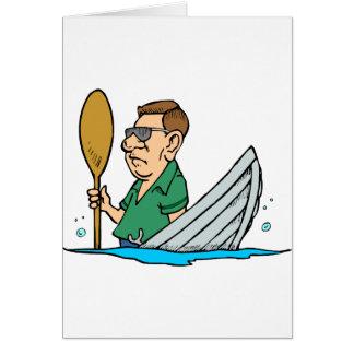 Barco que se hunde con el capitán tarjetas