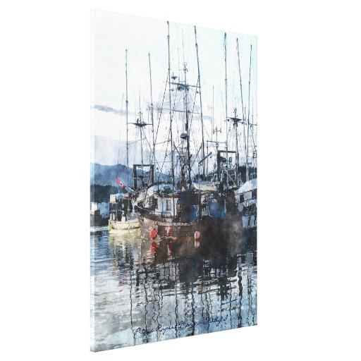 Barco rastreador de la pesca en arte canadiense de lona estirada galerías