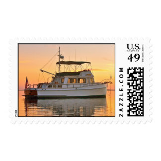 Barco rastreador magnífico clásico de los bancos timbres postales