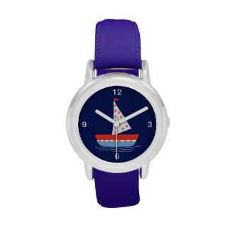 barco reloj de mano