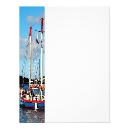 Barco rojo, blanco y azul en St Thomas Flyer Personalizado