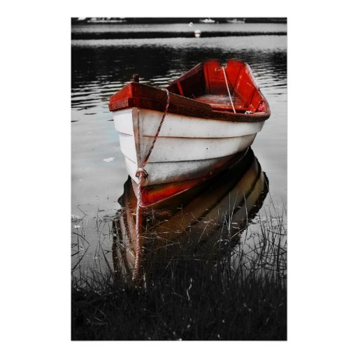 Barco rojo poster
