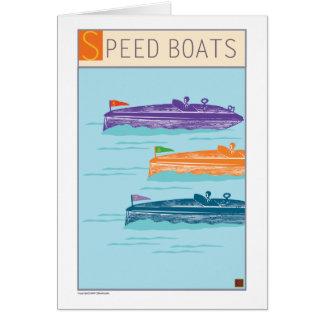 Barco-Tarjeta de la velocidad