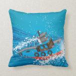 Barco tempestuoso almohada