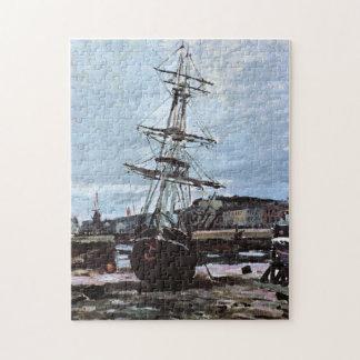 Barco trenzado en bella arte de Fecamp Monet Rompecabezas Con Fotos