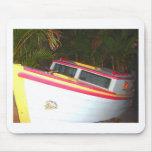 Barco tropical alfombrilla de ratón