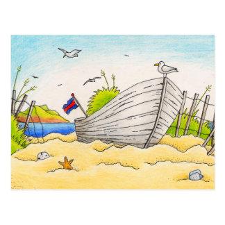 Barco varado - postal