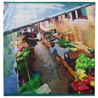 Barco vegetal Venecia Italia Servilleta De Papel