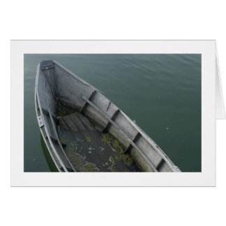 Barco viejo tarjeta pequeña