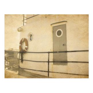 Barco viejo tarjeta postal