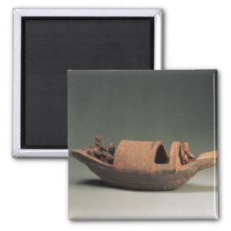 Barco y equipo, artefacto de la tumba imán cuadrado
