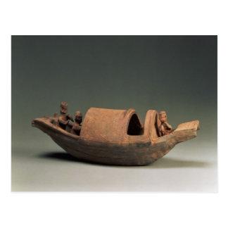 Barco y equipo, artefacto de la tumba postal