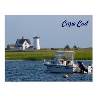 Barco y faro Chatham Cape Cod Postal