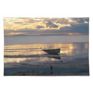 Barco y garza mantel individual