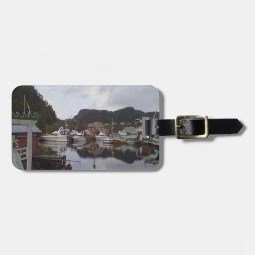 barco y mar etiquetas para maletas
