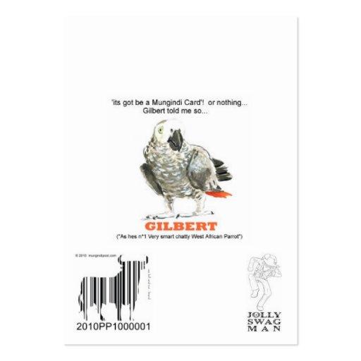 barcode1, jollyswagman, modelOFPARROT Tarjetas De Visita Grandes