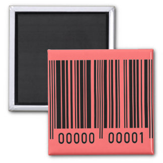 Barcode 2 Inch Square Magnet