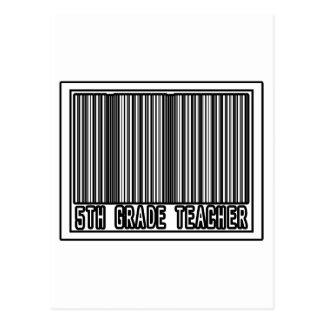 Barcode 5th Grade Teacher Post Card